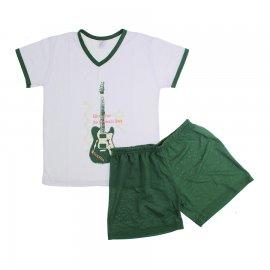 Imagem - Pijama Infantil de Verão para Menino Rock Star  - 5857 - pijama-curto-Verde-escuro