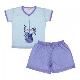 Imagem - Pijama Infantil de Verão para Menino Rock Star  - 5857-pijama-rockstar-azul