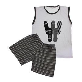 Imagem - Pijama Infantil Skateboards - 5849 - Cinza