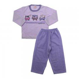 Imagem - Pijama infantil estampado - 5873-roxo