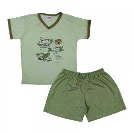 Imagem - Pijama Infantil para Menino - 6386-Pijama-infantil-piloto-verde