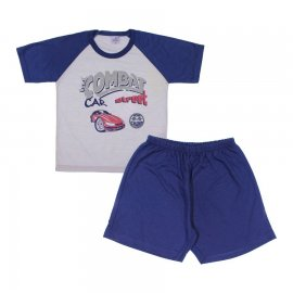 Imagem - Pijama Infantil Car  - 6005-pijama-car-cinza-azul