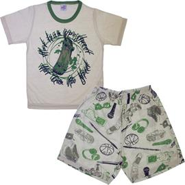 Pijama Infantil Camiseta e Shorts Game