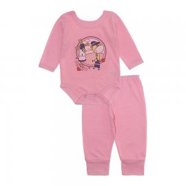Imagem - Pijama para Bebê Body e Calça Lapuko - 10189-pijama-menina-girafa-rosa