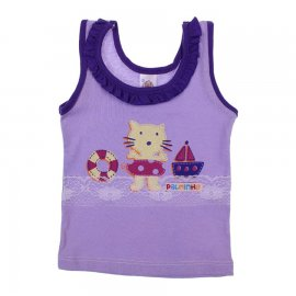 Imagem - Regata de Bebe Menina Cats - 6480-Regata de Bebe Menina Cats lil