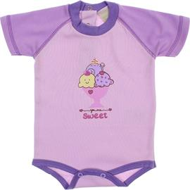 Body para Bebê Manga Curta Sweet