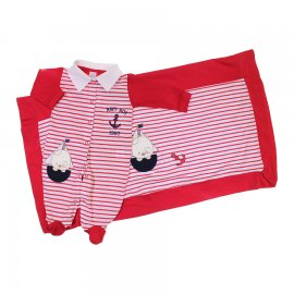 Imagem - Saída de Maternidade Marinheiro Baby Gijo - 6597-vermelho