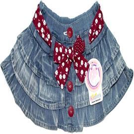 Saia infantil Babadinho Jeans - Cod. 4134