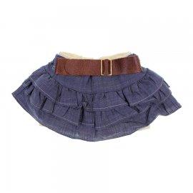 Saia Jeans Shorts Infantil com Cinto