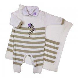 Imagem - Saída de Maternidade Artesanal em Linha 6305 - 6305 Branco/Creme