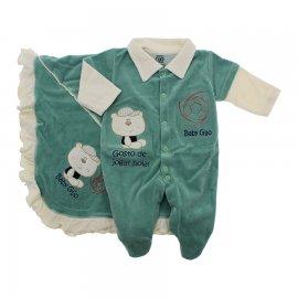 Imagem - Saída Maternidade para Menino em Plush - 9992-saida-maternidade-menino-verde