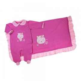 Imagem - Saída de Maternidade Menina Baby Gijo  - 6599-ursinha pink