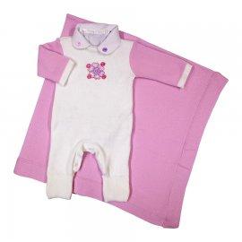 Imagem - Saída Maternidade em Linha Bebê Menina 6302 - 6302 Rosa/Branco