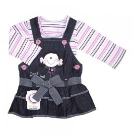 Imagem - Salopete Jeans com Blusa para Bebê Kidins - 5310-Salopete Jeans de Bebê c