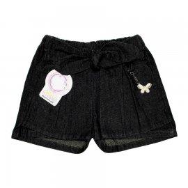 Imagem - Shorts Saia Infantil Jeans  - 4861-short-saia-jeans-black