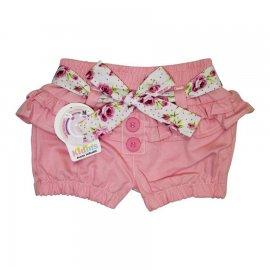 Imagem - Shorts de Sarja com Cinto Floral  - 5488 - Chiclete
