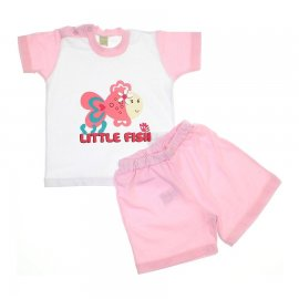 Conjunto de Bebê Shorts e Camiseta Fish