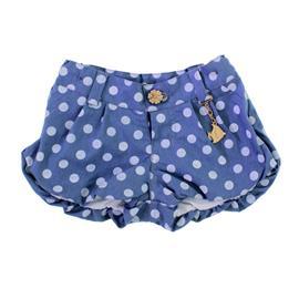 Shorts Infantil Jeans de Bolinhas