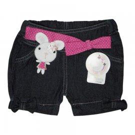 Imagem - Shorts Jeans Infantil Menina Coelhinha Laço - 5019 -Laço rosa