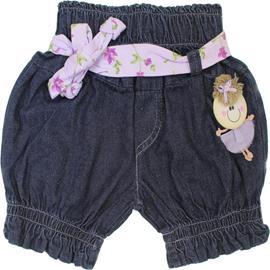 Shorts Jeans feminino com enfeite - Cod. 4400