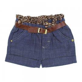Imagem - Shorts Jeans Infantil Oncinha  - 6311 Franzido