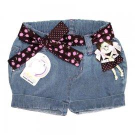 Imagem - Shorts Jeans Infantil Menina 3580 - 3580 - Rosa