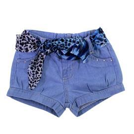 Imagem - Shorts Jeans Infantil com Lenço 8611 - 8611mod1