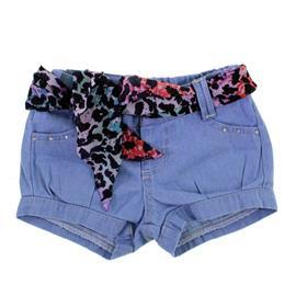 Shorts Jeans Infantil com Lenço 8611