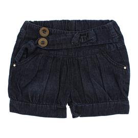 Imagem - Shorts Infantil com Preguinhas Jeans  - 4871