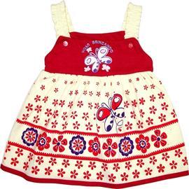 Imagem - Vestido Palminha 2297 - 2297 - vermelho com creme