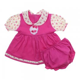 Imagem - Vestido de Bebê com Calcinha  - 7680-vestido-calcinha-pink-skulete