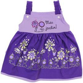 Imagem - Vestido com Alça Palminha  - 6194-Vestido com Alça jardim roxo