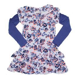 Imagem - Vestido Infantil Plush Flowers - 5774 - Azul
