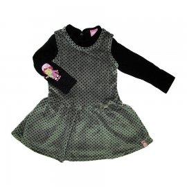 Imagem - Vestido de Plush Infantil e Camisete da Moranguinho 5636 - 5636 - Cinza/Preto