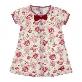 Imagem - Vestido Floral Infantil Bonnemini Girl - 6739-vermelho