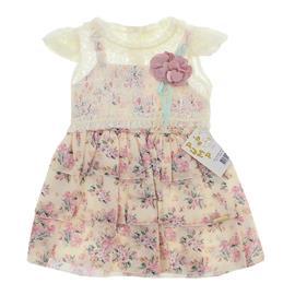 Vestido em Renda Floral para Criança - cod. 8107