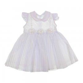 Imagem - Vestido Infantil para Batizado - cod. 6473 - 6473-Plissado