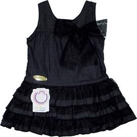 Imagem - Vestido Jeans Infantil Rendas 5309 - 5309 - Preto