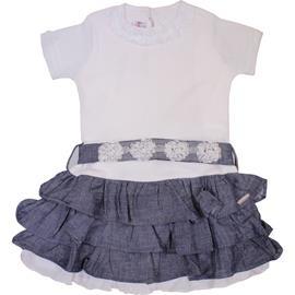 Imagem - Vestido Infantil com Babadinhos - cod. 7087 - 7087