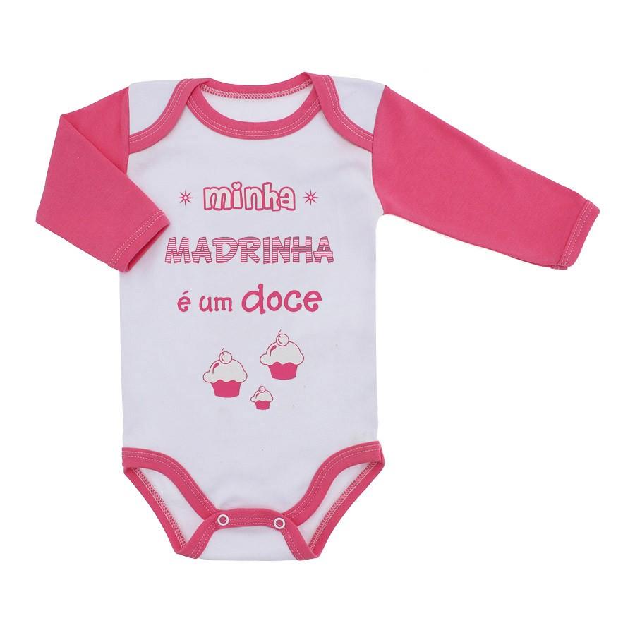Body Bebê Frases Manga Longa