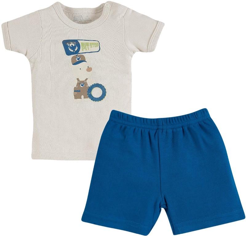 Conjunto de Bebe - Camiseta e Shorts - Zig Mundi - 7160  c02963786b1ba