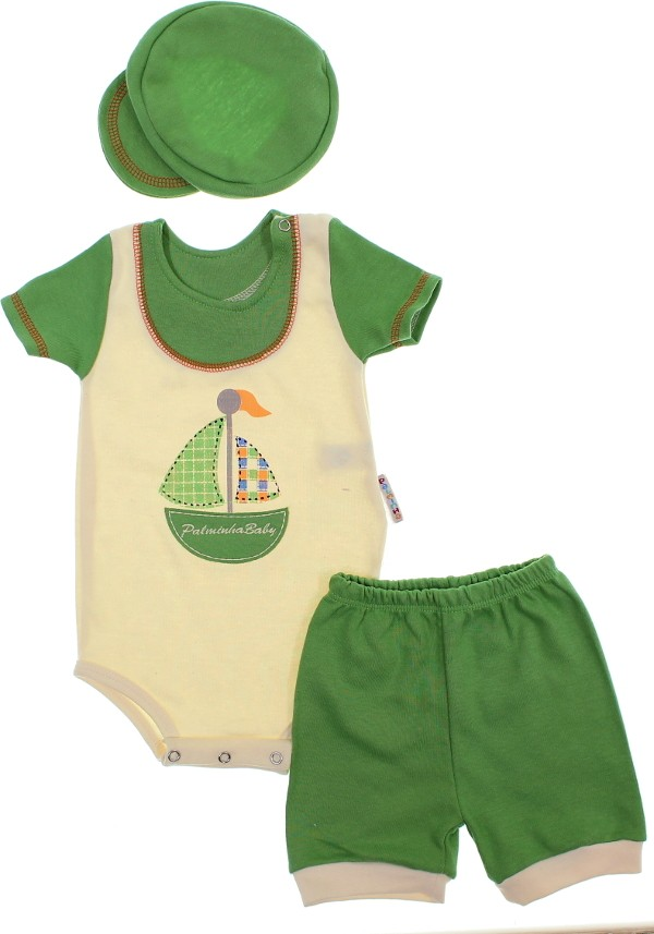 8349ac4157a7c Conjunto de Body para Bebê Shorts e Boina 6099