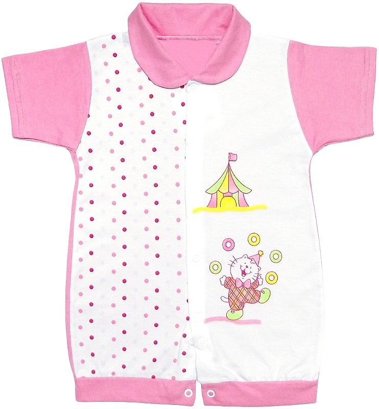 0052146ed Macacão Curto Bebe Circo - Cod.4718 4718 - Rosa - - Loja de Bebê ...