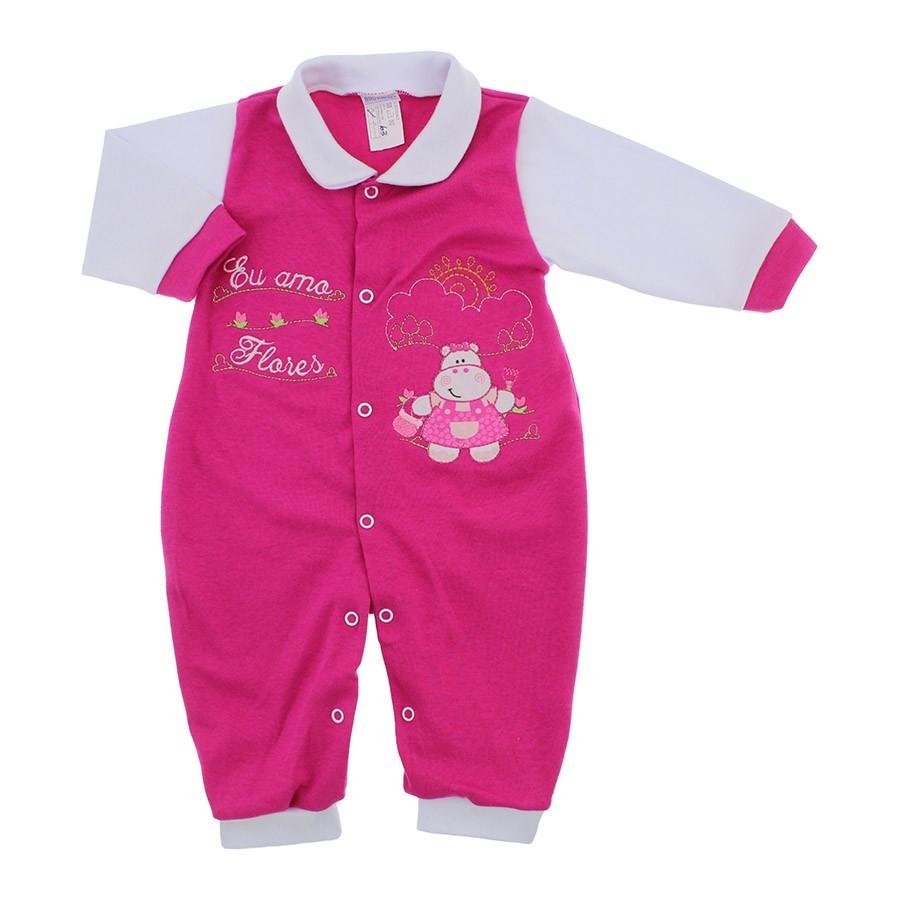 142364194916d5 Macacão de Bebê Feminino de Malha em Oferta - 9939