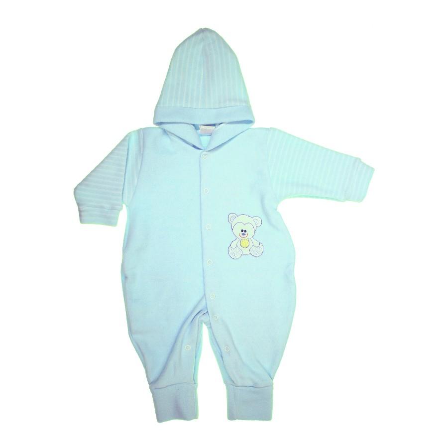 Macacão Longo com Capuz para Bebê Soft  c7e1ef3a6b1