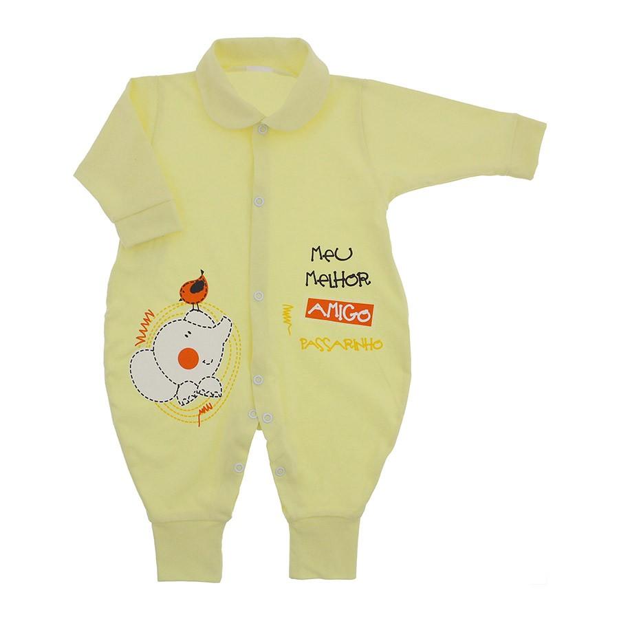 Macacão Longo Bebê Unissex Melhor Amigo - 9827  60f23ef361d
