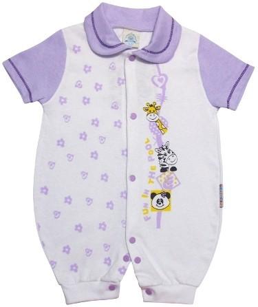 87b27f383 Macacão Curto Colorido - Cod.2305 2305 - branco - Loja de Bebê ...