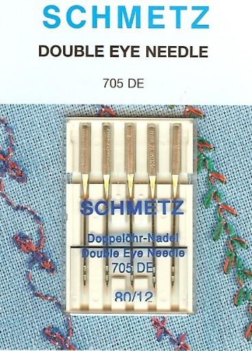 Agulha Dois Olhos para Schmetz Tamanho 80/12