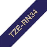 Fita para rotulador Brother TZe-RN34 marinho escrita ouro cetim Brother 2