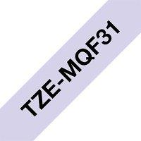 Fita para rotulador Brother TZe-MQF31 roxo pastel escrita preta plástica laminada Brother   2